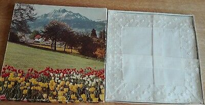 Bridal Handkerchief? Vintage Swiss Made Fine Lawn Exquisitely Lace Embroidered