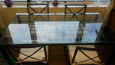 Ikea Glass Top And Metal Frame Dining Table And 4 Chairs Ikea Granas