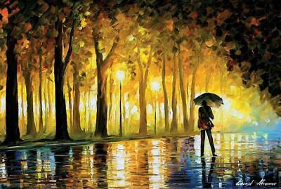 Bewitched Park (Man with Umbrella) by Leonid Afremov 36x24 Art Print Poster