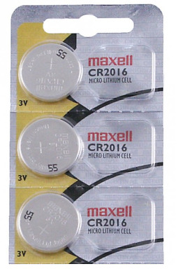 Pack of 3 Maxell Hologram CR2016 3V Lithium Coin Cell Batteries