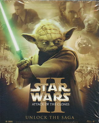 STAR WARS Episode 2 Attack Of The Clones 8x10 inch Promotional Poster YODA Mint