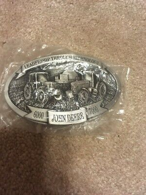 57  Deere Leadership Through Technology 6000 John Deere 7000 Belt Buckle New