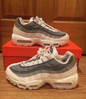c5ab5001ea Reflective Nike Air Max 95 Id Running Shoes Grey White Silver Women's Size  8.5