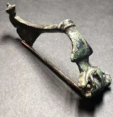 Ancient Imperial Roman Legionary Fibula Type Brooch. 2nd Century Artefact.