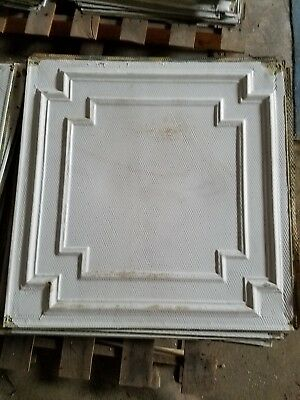 Antique Metal Ceiling Tiles - Industrial Architectural Salvaged Vintage QTY-20