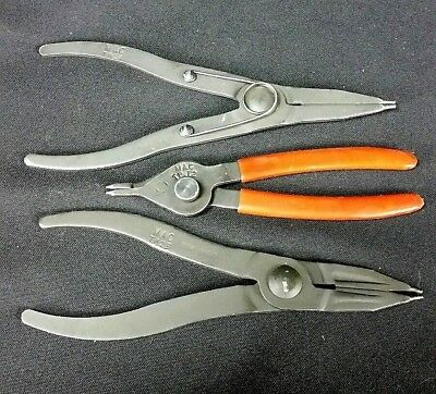 Lot of 3 Mac Tools snap ring pliers TP 12, 23, 24 external internal combination