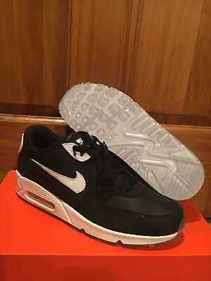 0426ec6022346 New Custom Womens Nike Air Max 90 Id Black White Leather Running Shoes Size  10