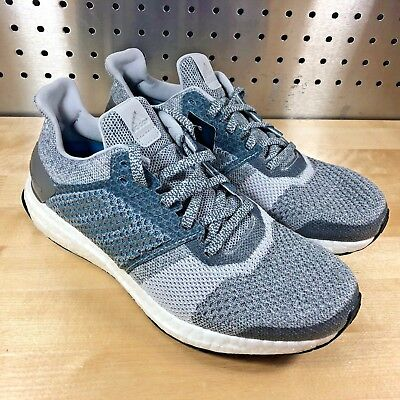 532aaa1ef49 Adidas Ultra Boost ST Primeknit Grey Silver Women s Sz 8 Running Shoes  BY1900