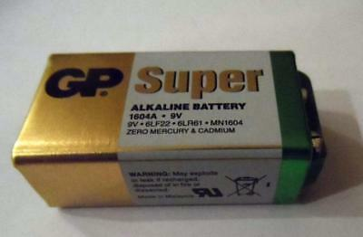 GP Super Alkaline Battery 9 V, PP3 MN1604 Block 6LR61 6LF22