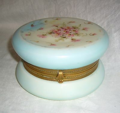 Antique Victorian Carl Helmschmied C F Monroe Bell Ware Opalware Opal Glass Box