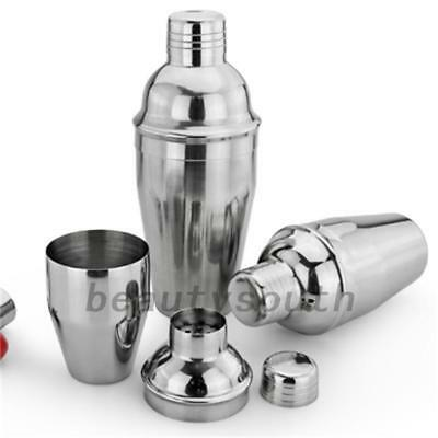 750ml Stainless Steel Cocktail Shaker Drink Mixer Martini Tools Home Bar Party