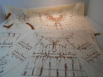 Vintage Victorian Doll Clothes Fabric Panels[ THE PATCHMAKERS INC. c.1979