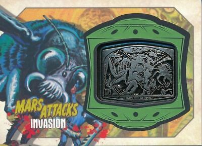 2013 Topps MARS ATTACKS INVASION Giant Flies Metal Medallion Relic CARD MM-13
