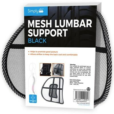 Simply Universal Mesh Lumbar Back Support Airflow Car Chair Lower Back Pain Ache