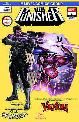 Punisher 1 Clayton Crain Ps4 Spiderman 129 Homage Video Game Variant Presale Nm