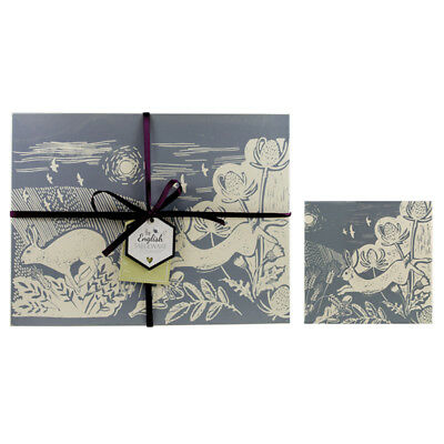 English Tableware Co. Artisan Grey Hare Placemats and Coasters, Set of 4 Pack