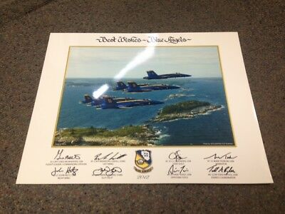 """2012 U.S. NAVY BLUE ANGELS """"Coast of Maine"""" 16 x 20 large LITHO Authentic poster"""