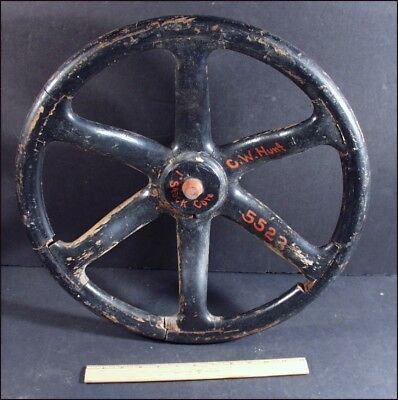 Vintage Industrial Wood Large Valve Wheel Gear Cog Mold Steampunk, #5523