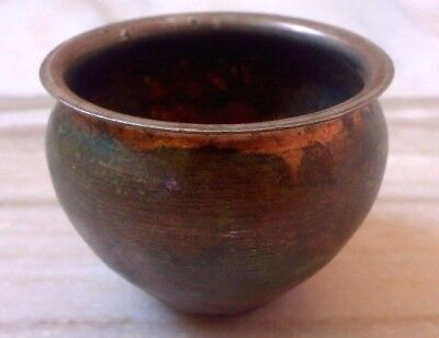 Vintage Original Old  Holy Water Pot Copper Hand Crafted