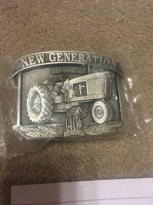 85 John Deere 4010 Tractor Pewter Belt Buckle 40th Anniversary 2000 Le Of 2500