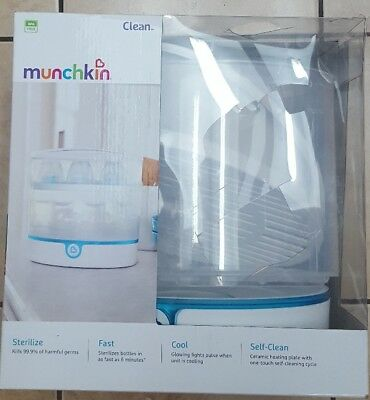 Munchkin Clean Electric Sterilizer 9 Bottle Capacity BPA Free MKCL0573 NEW
