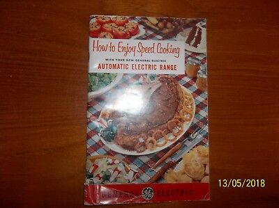 Vintage General Electric Automatic Electric Range  Recipe & Care/Instructions