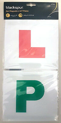 4 x L P LEARNING PASS MAGNETIC CAR PLATES Learner Probationary New Driver PASSED