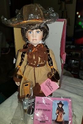 """New Treasury Collection Paradise Galleries """"Annie Oakley"""" Porcelain 16"""" Doll"""
