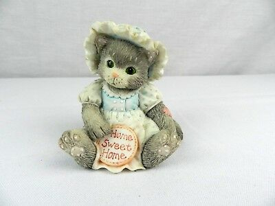 "Calico Kittens Figurine ""Home Sweet Home"" Gray Kitten 1993 P. Hillman 624705"