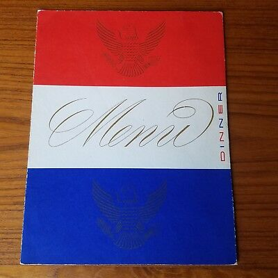 1956 October 15 S. S. United States Dinner Menu Cruise Ship, US Lines Tri-fold