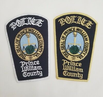 Lot of 2 variations Prince William County Virginia Police Patch law enforcement