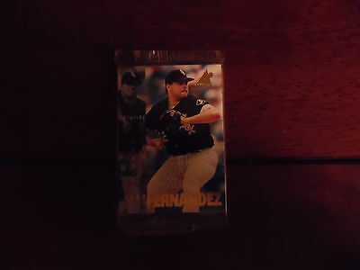 1997 Alex Fernandez Pinnacle Inside Unopened Pack Baseball Cards