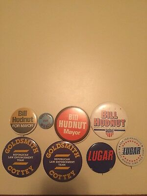 Group Of Indianapolis Political Buttons