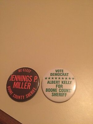 Boone County, Indiana Political Sheriff Buttons.