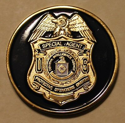 Central Intelligence Agency CIA Special Agent Protective Staff Challenge Coin