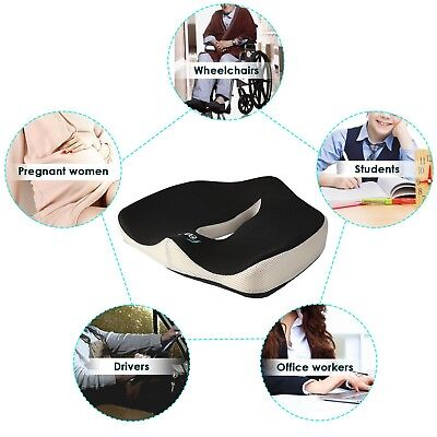 FEAGAR Seat Cushion Memory Foam Coccyx Pillow Pain Relief Chair Car Office NEW