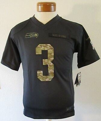 innovative design dff93 2b279 NIKE RUSSELL WILSON Seattle Seahawks Youth Salute To Service Jersey  Anthracite