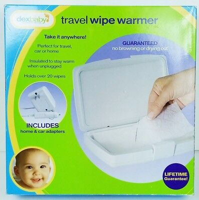 DEX dexbaby Travel Wipe Warmer with Home & Car Adapters - WWTHT-01
