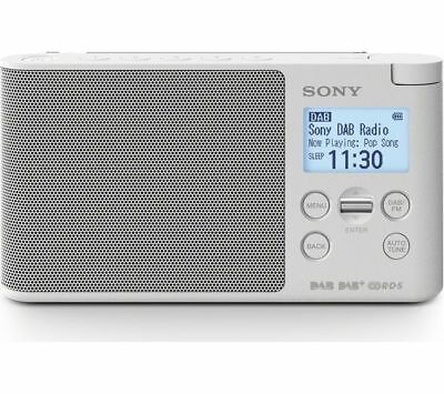 Sony XDR-S41D Portable DAB/DAB+ Wireless Radio with LCD Display White