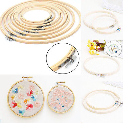 Wooden Frame Hoop Ring Embroidery DIY Cross Stitch Sewing  Accessories 12cm-26cm
