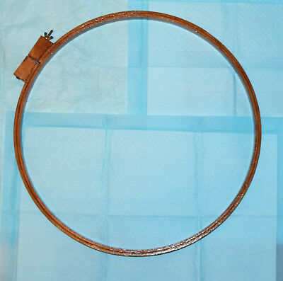 1 Large Vintage Wooden Circular Hand Embroidery Hoop Cross Stitch Needlework
