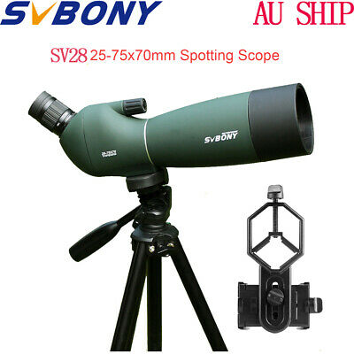 SVBONY 25-75x70mm Angled Zoom Spotting Scope Waterproof+Tripod AU Local Ship