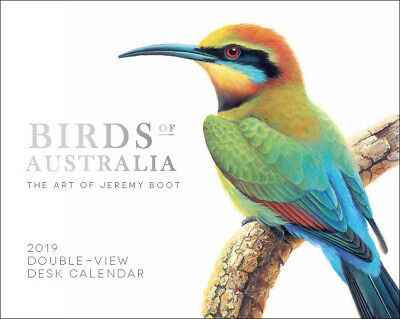 Birds of Australia 2019 Double-View Desk Easel Calendar by Browntrout
