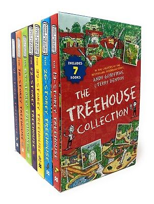 Andy Griffiths Treehouse 7 Books Box Set Collection 13-storey, 91-Storey....