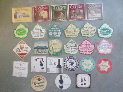 26 different ORLANDO Wines 1960,s - 80,s Issued  Advertising COASTERS