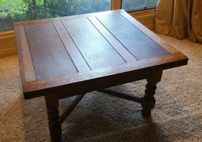 Antique Drop Leaf Table Tiger Oak