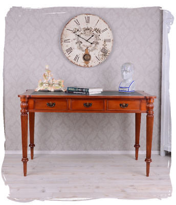 Mahogany table antique style desk colonial wood computer table three drawers new