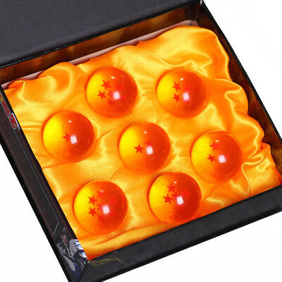7 Pcs/Set 3.5cm Dragon Ball Z Yellow Crystal Balls Complete Set with Retail Box