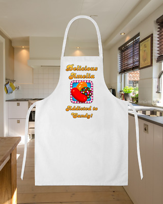 Personalised Candy Crush Game Sweets Baking Cooking Apron Ideal Birthday Gift