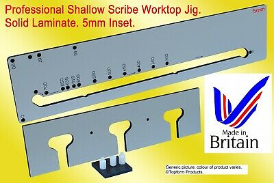 NEW. TOPFORM (HIB) SHALLOW SCRIBE KITCHEN WORKTOP JIG. 5mm Inset. Solid Laminate